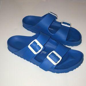 Women's Birkenstock Sandals 38 Rubber Blue